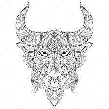 раскраски тату рисование разъяренный бык для раскраски книга тату