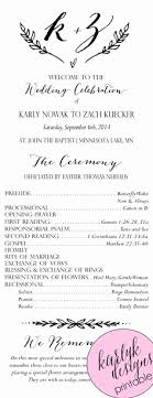 Printable Wedding Program Templates Catholic Wedding Program Template Awesome 35 Best Printable Wedding