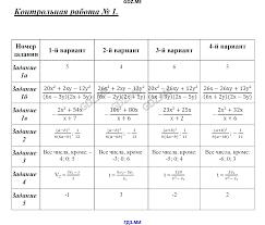 ГДЗ контрольные работы по алгебре класс Глазков Гаиашвили Контрольная работа №1