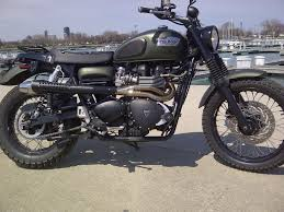 triumph scrambler custom right side bike urious