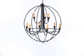 wrought iron round chandelier