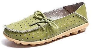 Fashion Grasshoppers Womens Windham Slip On Flat Green