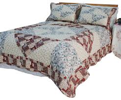fl journey cotton vermicelli quilted patchwork quilt 3 piece set twin