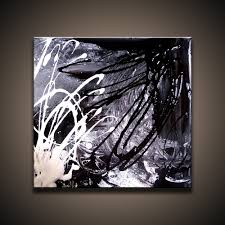 black and white abstract painting supporting eachother