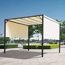 retractable pergola canopy 3lx3wx2 3h m