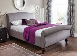 grey upholstered sleigh bed. Grey Upholstered Beds. Beds Sleigh Bed E