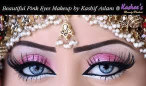 beautiful shimmery pink bridal eye akeup by kashee s 3