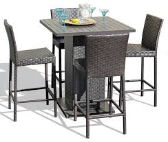 Ansley Luxury 4Person All Welded Cast Aluminum Patio Furniture Outdoor Pub Style Patio Furniture