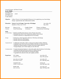 Common Resume Format Yralaska Com