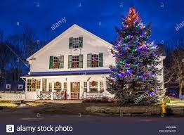 Christmas Lights New England United States New England Massachusetts Cape Ann