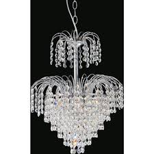 cwi lighting palm tree 8 light chrome chandelier
