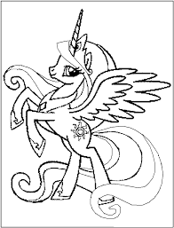 Small Picture Free Printable My Little Pony Coloring Pages For Kids With Color