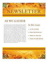Heart Of Thanksgiving Newsletter Template Newsletter Templates