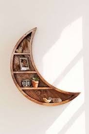 Image Woodworking Slide View 1 Crescent Moon Wall Shelf Book Storage Home Accessories Moon Homedit 1594 Best Eye Catching Unique Wood Furniture Images In 2019 Log