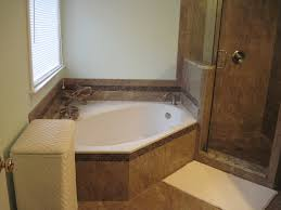 charlotte bath remodel with relaxing corner garden tub