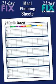 Free Printable 21 Day Fix Meal Planning Sheets | My Crazy Good Life