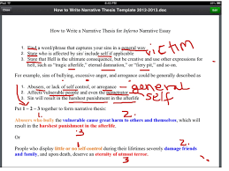 showme how to write a narrative account how to write a narrative thesis for inferno essay