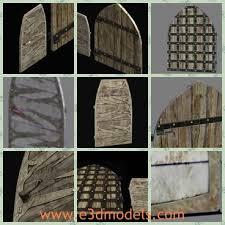 3d model the ancient door