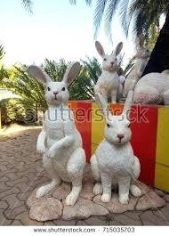 white rabbit garden statue white rabbit statues in garden animal sculpture in zoo alice in wonderland