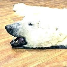 white bear rugs faux skin rug with head strikingly fake polar small size of ru ikea white bear rug polar