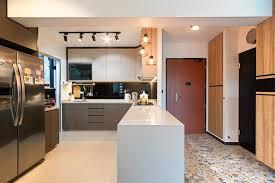 Kitchen Design Ideas 6 Trendy Kitchens In 4room HDB Flat Homes Hdb 4 Room Flat Interior Design Ideas