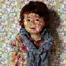 Mosaic Design Mosaic Design Canvas Printing Photo Collage Canvas With Wooden Frame