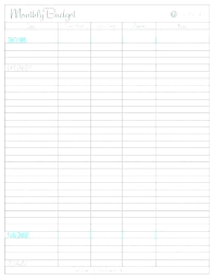 Excel Budget Template Weekly Personal Simple Monthly