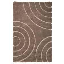 lavish home everest circles brown 8 ft x 10 ft area rug