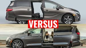 2018 Honda Odyssey Vs Chrysler Pacifica  Y