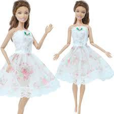Thời Trang Áo Trắng Mini Váy Tiệc Váy Công Chúa Nhảy Múa Quần Áo Cho Búp Bê  Barbie Phụ Kiện Nhà Búp Bê Cô Gái Đồ Chơi|Phụ Kiện Búp Bê