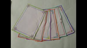 Easy To Make Border Designs How To Make Easy Page Border Page Border Easy Page Border Design Tutorial 2