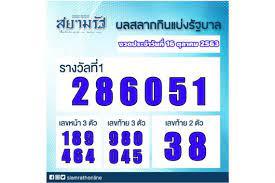 ผลสลากกินแบ่งรัฐบาลงวดประจำวันที่ 16 ตุลาคม 2563 สยามรัฐ