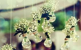 wedding decorations party lilies of the valley creative vases light bulbs with