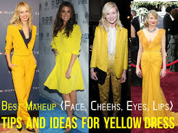 yellow dress makeup tips ideas