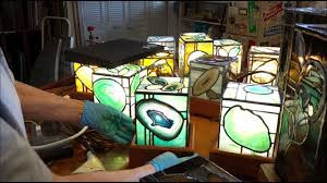 the magic of stained glass agate lamps