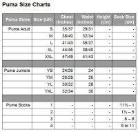 Puma Size Chart Football Shirt Puma Women Size Chart Puma Size Chart Dreshnik Eu