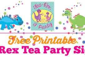 Tea Party Free Printables Dinosaur Tea Party Archives