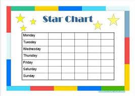 Star Charts For Kids Star Chart For Kids Reward Chart