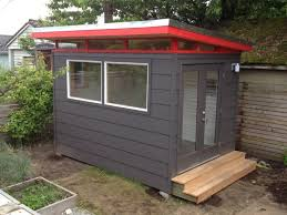 backyard office prefab. stunning prefab shed kit with backyard office and black painted wooden wall design
