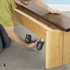 securing slat to bench with pocket hole
