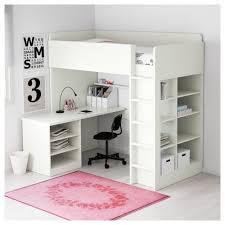 genuine loft bed and desk stuva combo w 2 shlvs 3 white 207x99x193 cm ikea
