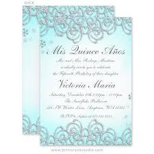 Invitations Quinceanera Winter Wonderland Swirl Snowflakes Quinceanera Invitations