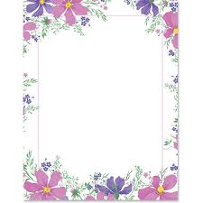 Paper With Flower Border May Flowers Border Papers Paperdirects