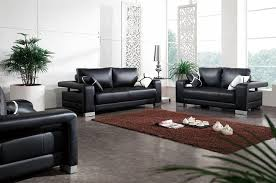 quality bonded leather modern designer sofas black leather sofa set with matching throw pillows