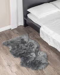 fresh gray sheepskin rug very attractive dover grey 2x3 5 ft town home design 2
