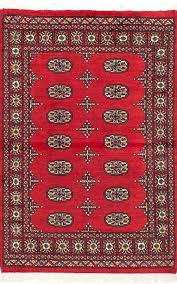red wool rug hand knotted 2 x 5 area rugs