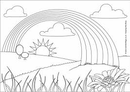 rainbow coloring pages. Plain Pages Rainbow Colouring Page 2 In Coloring Pages