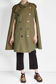 burberry iridescent cotton trench cape green women burberry shirts at burberry shirts on