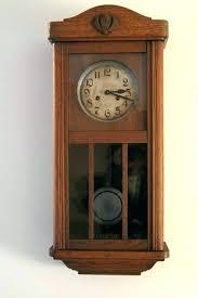 wall lights light oak wall clocks image 0 for mechanical clock pendulum with wooden