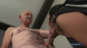 She sucks grandads big cock